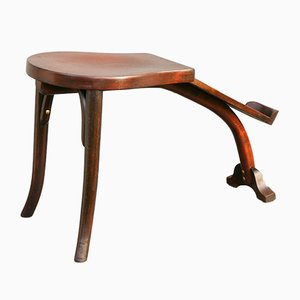Antique Bentwood Stool from Thonet