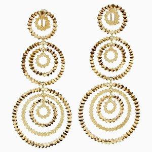 18 Karat Gelbgold Kronleuchter Ohrringe, 2er Set