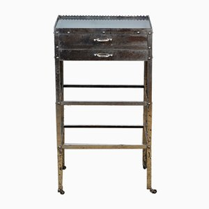 Antique Chrome Plated Hospital Trolley, 1920s