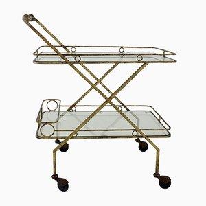 Gilt Metal Bar Cart, Italy, 1960s