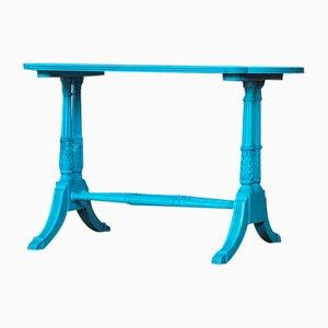 Lackierter Vintage Tisch in Blau