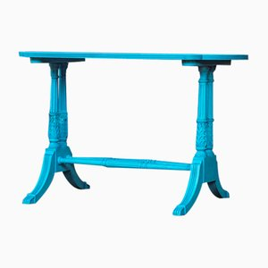 Vintage Lacquered Center Table in Blue