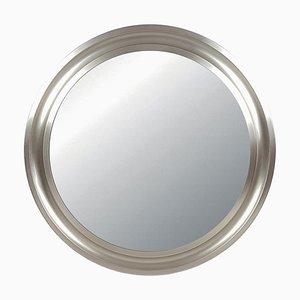 Narcisso Spiegel aus vernickeltem Messing & schwarzem Metall von Sergio Mazza für Artemide, 1970er