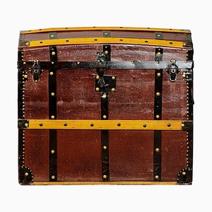 Antique Wooden and Iron Trunk