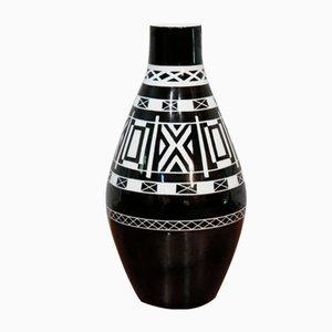 Moderne Vase mit geometrischem Muster, 1950er