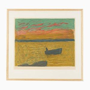 Pescador, Litografía a color