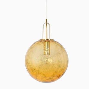 Large Murano Glass Globe Pendant Lamp from Doria, Germany, 1970s