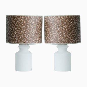 Glas Lampen von Odreco, 2er Set