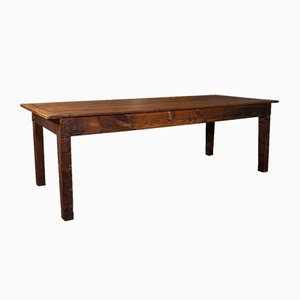 Large Victorian English 8-Person Dining Table in Pine