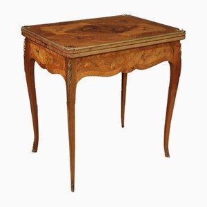 Französischer Spieltisch aus Holz mit Intarsien
