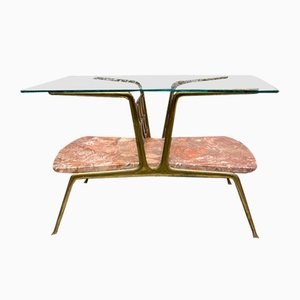 Coffee Table in Marble and Glass Attributed to Gio Ponti