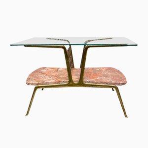 Table Basse en Marbre et Verre Attribuée à Gio Ponti