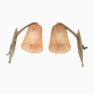 Art Deco Wall Lamps from Muller Frères, Set of 2