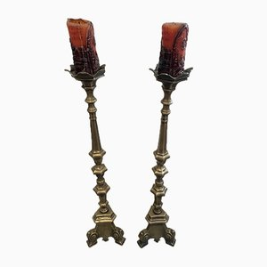 Bronze Candlesticks, Set of 2