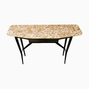 Marble and Wood Console