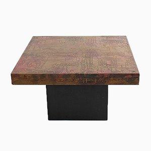 Tavolino da caffè brutalista vintage di Wilfried Redeker