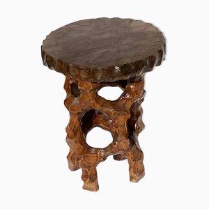 Brutalist or Wabi Sabi Biomorphic Side Table