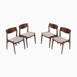 Chaises de Salle à Manger Vintage en Palissandre de Sorø Stolefabrik, Danemark, Set de 4