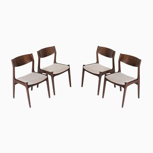 Vintage Dining Chairs in Rosewood from Sorø Stolefabrik, Denmark, Set of 4