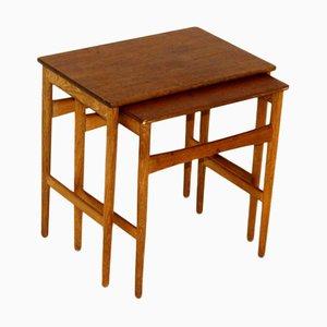 Mesas de Hans J Wegner para Andreas Tuck, Denmark, años 60. Juego de 2