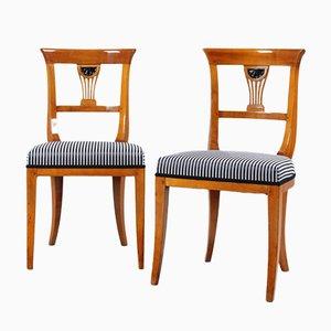 Antike Biedermeier Stühle aus Kirschholz, 2er Set