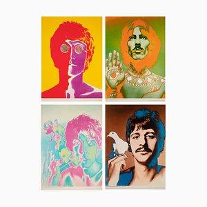 Litografia Offset dei Beatles di Special Look Magazine, Avedon, 1967, set di 4