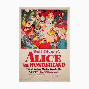 Affiche de Film Alice au Pays des Merveilles, 1951