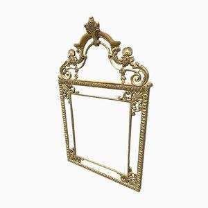 Louis XV Spiegel mit vergoldetem Holzrahmen