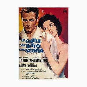 Poster del film La gatta sul tetto che scotta, Silvano Campeggi, 1966