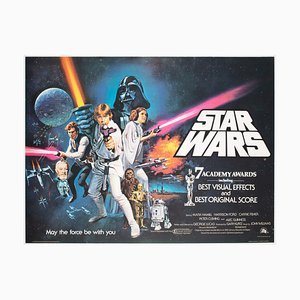 Poster del film Star Wars di Chantrell, Regno Unito, 1977