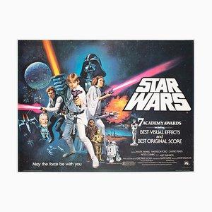 Star Wars Quad Filmplakat von Chantrell, UK, 1977