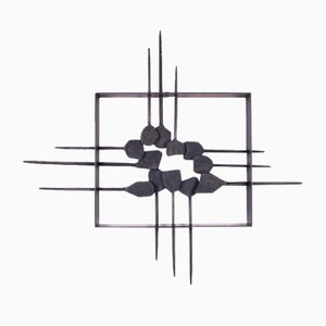 Vintage Brutalist Abstract Wall Sculpture