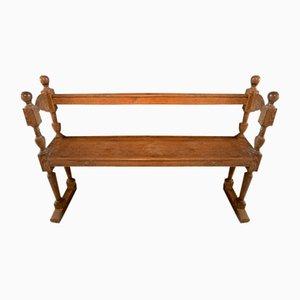 19th Century Belgian Oak Bench