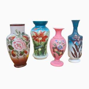 Opalglas Vasen, 4er Set