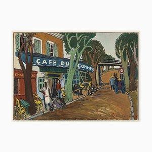 Cafe du Commerce, Oil on Canvas