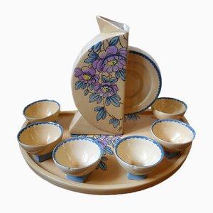 Servizio da caffè Art Déco di Paule Douau per Cazalas, set di 8