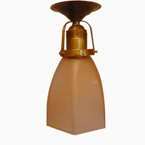 Art Deco Brass Ceiling Lamp