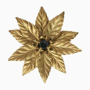 Vintage Hollywood Regency Blumen Decken- oder Wandlampe