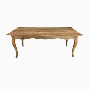 Langer Louis XV Esstisch oder Schreibtisch aus massiver Eiche