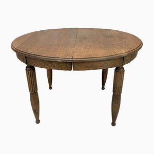 Ovaler Esstisch mit Verlängerung, 1930er