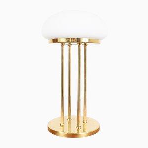 Art Deco Kupfer Tischlampe mit Glasschirm