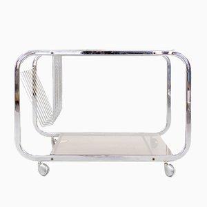 Servierwagen mit Kristallglasplatten von Huwa-Spiegel Parsol, 1960er