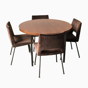 Table and Chairs by Georges Frydman for EFA, 1965, Set of 5
