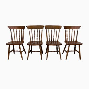 American Western Dining Chairs, Set of 4
