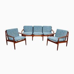 Dänisches Mid-Century Sofa und Sessel von Arne Vodder für Glostrup, 1960er, 3er Set
