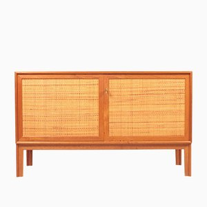 Mid-Century Teak Cabinet with Cane Panels by Alf Svensson, 1960s