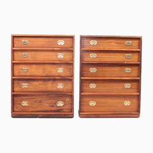 Mid-Century Chest of Drawers in Rosewood by Henning Korch, 1950s, Set of 2