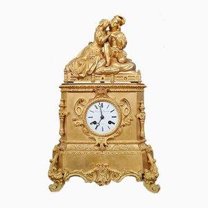 Louis Philippe Pendel aus goldener Bronze, 1830er