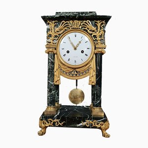 Golden Bronze and Green Sea Marble Pendulum