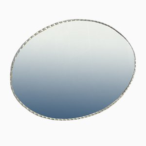 Großer abgeschrägter ovaler Spiegel
